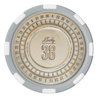 38 fichas de póker reales afortunadas fichas de póquer