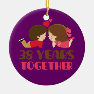 38.o Regalo del aniversario de boda para ella Adornos