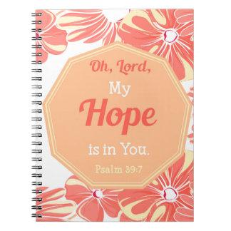 39:7 del salmo mi esperanza está en usted cuaderno