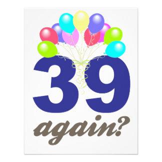 ¿39 otra vez Regalos de cumpleaños recuerdos Anuncio