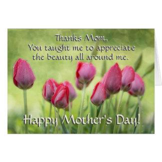 3:11 de Ecclesiastes, tulipanes del día de madre Tarjeta De Felicitación