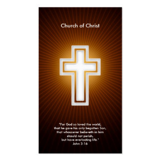 3:16 de Juan - cristiano Tarjetas De Visita
