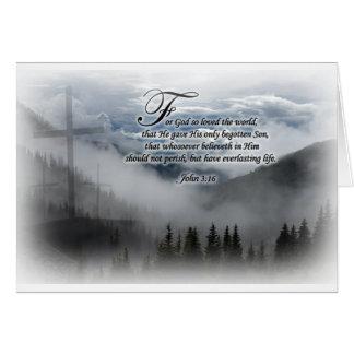 3:16 de Juan - tarjeta de felicitación, sobres