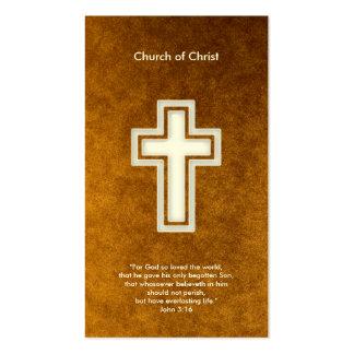 3 16 de Juan - tarjeta de visita cristiana del oro