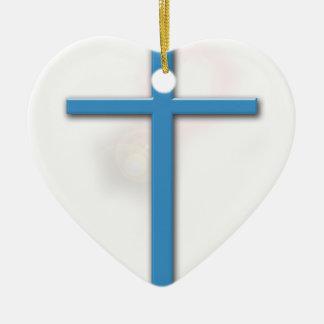 3:16 de la cruz y de Juan Adorno Navideño De Cerámica En Forma De Corazón