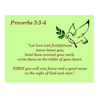 3:3 de los proverbios - tarjeta de memoria de 4