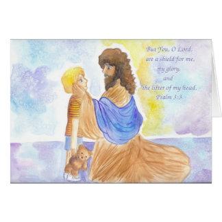 3:3 del salmo tarjeta de felicitación