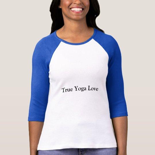 3/4 camisa de la yoga de la manga de la longitud