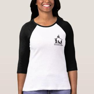 3/4 camiseta del raglán de la manga con el