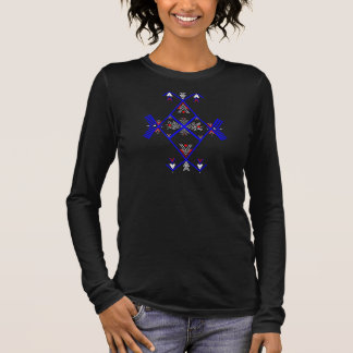 3/4 diseño de Amazigh de la blusa de la manga para