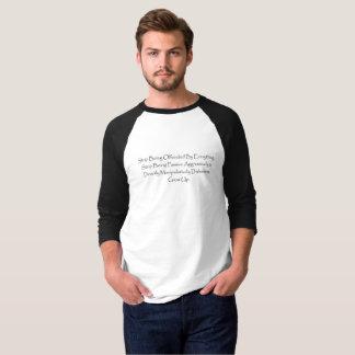 3/4 parada blanca negra de la camisa del raglán