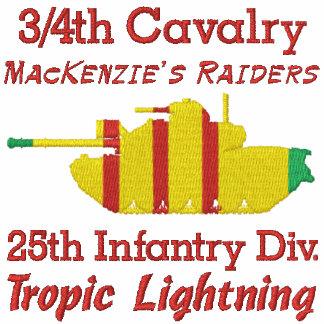 3/4o Cav. 25to Inf. Div. Camisa de M48A3 Patton Camiseta Polo Bordada