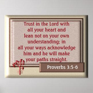 3:5 de los proverbios - impresión de 6 ~~art