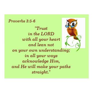 3:5 de los proverbios - tarjeta de memoria de 6