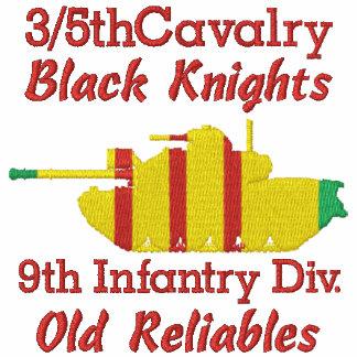 3/5o Cav. 9no Inf. Div. Camisa de M48A3 Patton Camiseta Polo Bordada