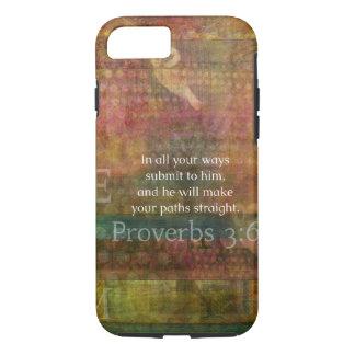 3:6 de los proverbios: Verso inspirado de la Funda iPhone 7