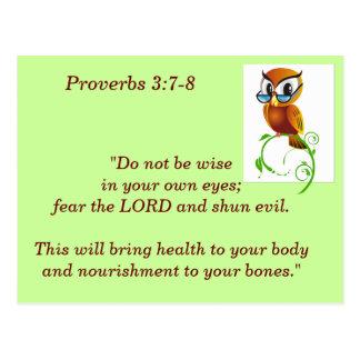 3:7 de los proverbios - tarjeta de memoria de 8