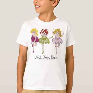3 bailarines de ballet camiseta