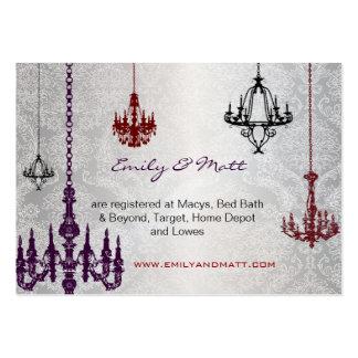 3 bodas rojos y negros de plata del damasco de las plantillas de tarjetas de visita