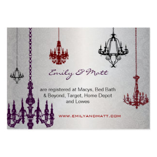 3 bodas rojos y negros de plata del damasco de las tarjeta de visita
