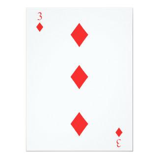 3 de diamantes invitación 16,5 x 22,2 cm