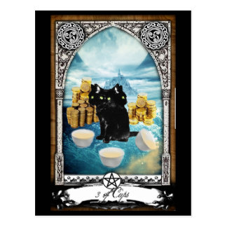 3 de las tazas 3 dirigieron la postal de Tarot del