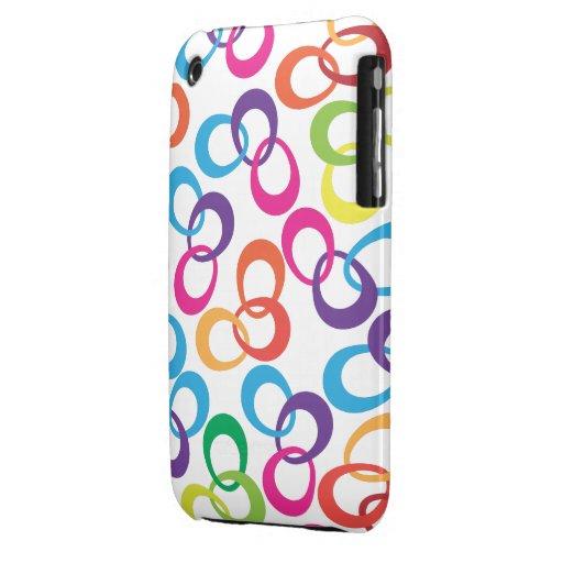 #3 enrrollado retro Case-Mate iPhone 3 funda