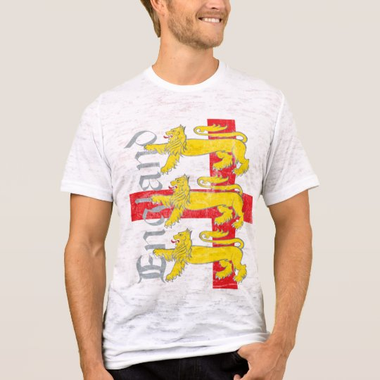 3-Lions y la cruz de San Jorge (vintage) Camiseta