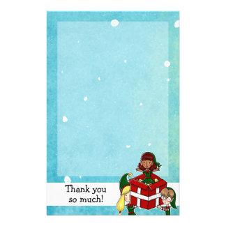 3 navidad de los duendes le agradece papel de nota