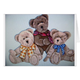 3 osos tarjeta de felicitación