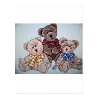 3 osos tarjeta postal