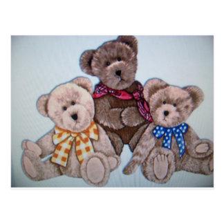 3 osos tarjetas postales