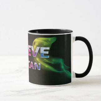 3 palabra Quote~Believe usted taza de