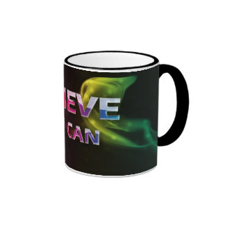 3 palabra Quote~Believe usted taza de Can~Motivati