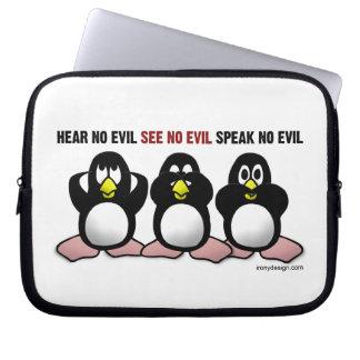 3 pingüinos sabios funda para portátil