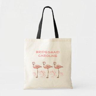 3 remolinos rosados de la playa de los flamencos bolsa tela barata