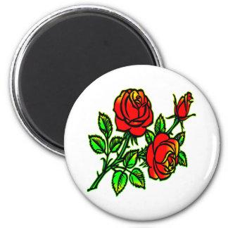 3 rosas preciosos del estilo del tatuaje imán de nevera