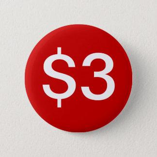 $3 vendedores/botón de las ventas chapa redonda de 5 cm