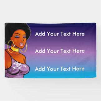 3' x 5' bandera de Afrocentric Lona