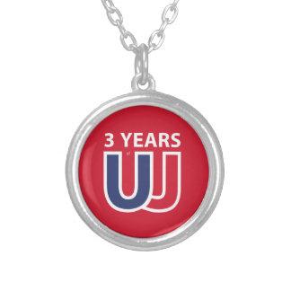 3 Years of Union Jack Collar Plateado