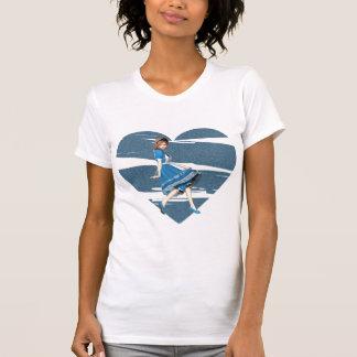 3D Alicia y corazón azul Camisetas