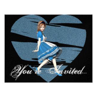 3D Alicia y corazón azul Comunicado