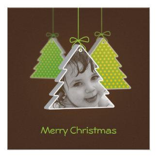 3d árbol de navidad moderno - tarjeta de Navidad d Invitación Personalizada