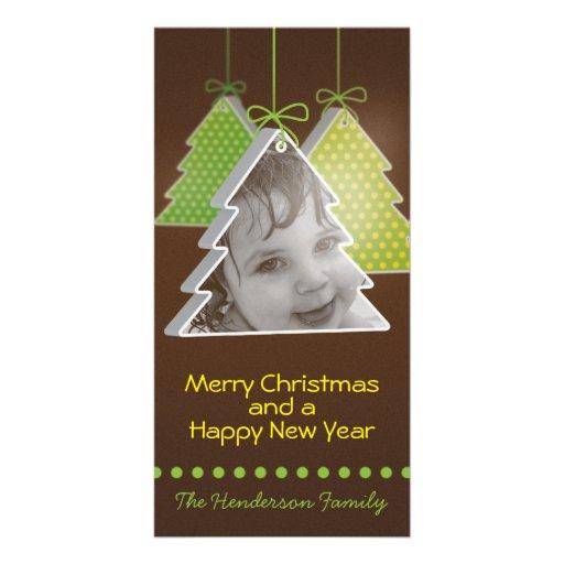 3d árbol de navidad moderno - tarjeta de Navidad d Tarjeta Fotográfica