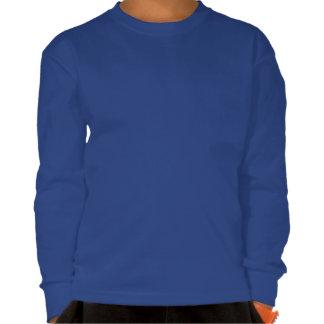 3D azul cubica el modelo geométrico abstracto Camisetas