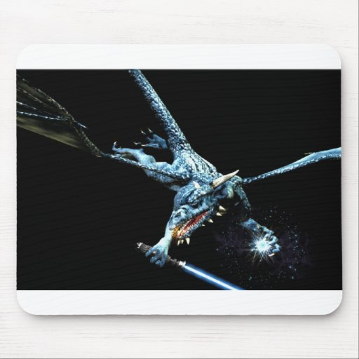 3D dragón Jedi Tapetes De Ratón