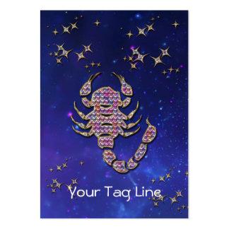 3D escorpión - muestra del zodiaco - muestra astro Plantilla De Tarjeta De Negocio