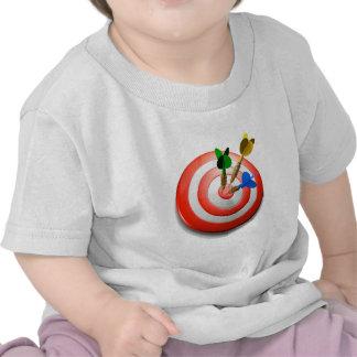 3D lanza la camiseta del bebé de la diana