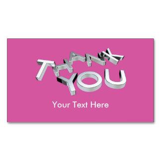 3D le agradecen el paquete de encargo rosado 25 de Tarjeta De Visita Magnética