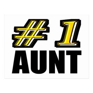 3D tía del número uno Postal
